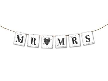 Banner MR MRS, 77cm