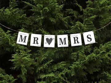 Banner MR MRS, 77cm -1