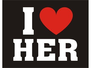 "Sko stickers ""I Love Her"""