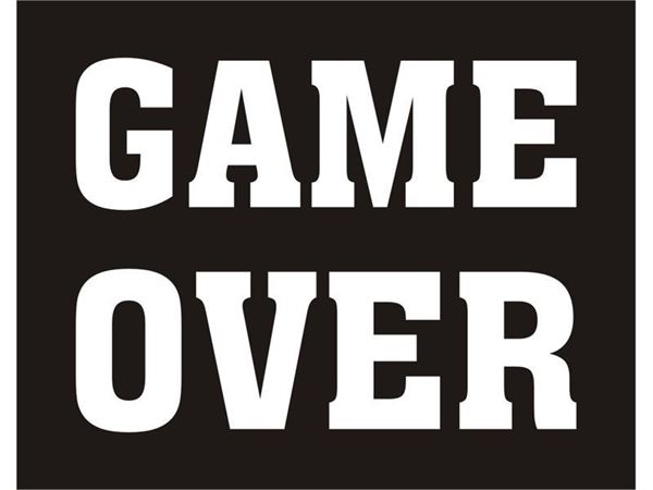 "Sko stickers ""GAME OVER"""
