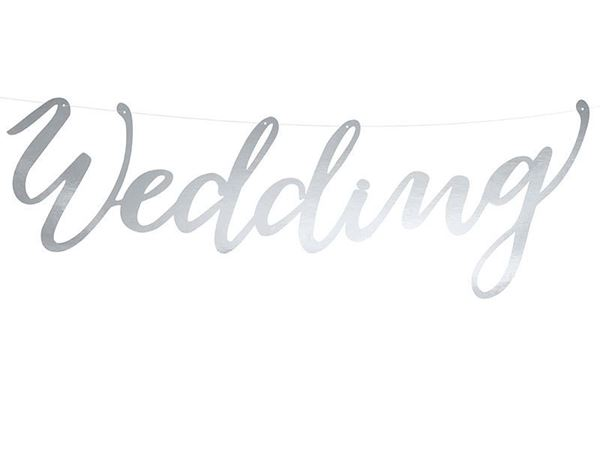"Banner ""Wedding"" 44cm"