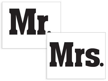 "Sko stickers ""Mr"" & ""Mrs"""
