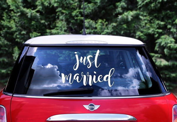 """Bil stickers """"Just married"""""""