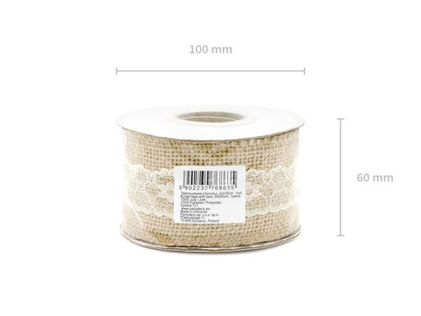50mm Hessian bånd med blonde 5 meter