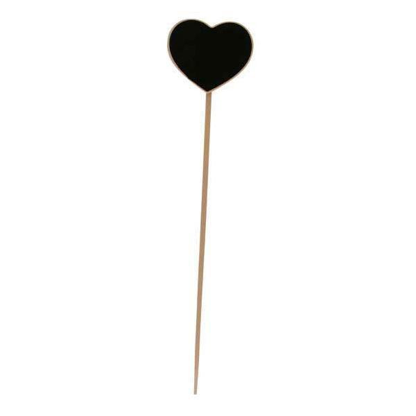 Hjerteformet Kridttavle på pind