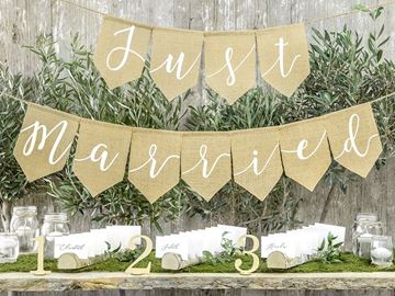"Banner ""Just married"" 1,85 meter"
