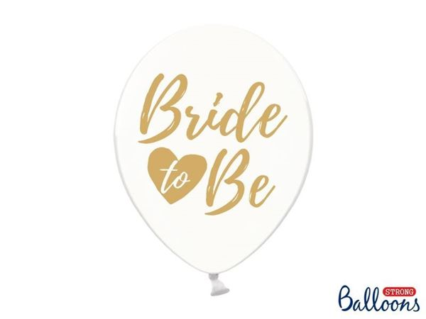 "Balloner klar ""Bride to be"" - 6 stk"