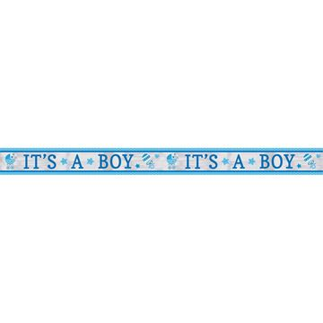 "Lyseblåt foliebanner ""It´s a boy"""