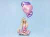 Lys lilla hjerte folie ballon 61 cm